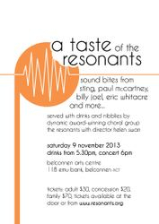 A taste of The Resonants