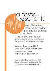 A taste of The Resonants