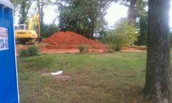 Preparing lot for footers