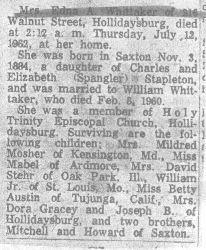 Whittaker, Edna Stapleton 1962