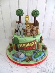 Harley's Zoo themed Birthday Cake