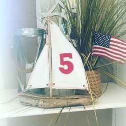 Driftwood Sailboat table numbers