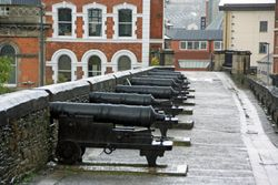Cannon on city walls in Derry