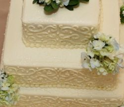 Buttercream Filigree Scroll Design