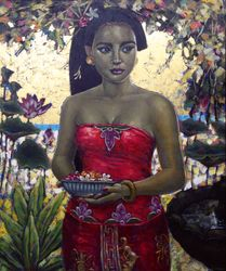 Balinese Woman In The Garden, 2010