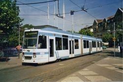 A Duewag Low Floor Tram in Bismarckplatz