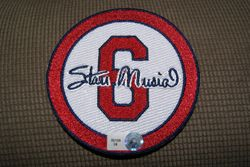 Stan Musial Game Used Batting Practice Patch Angels Cardinals MLB Authenticated
