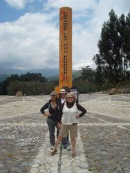 Standing on the equator