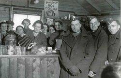 Soldiers at YMCA Canteen