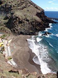 The small beach near the marina