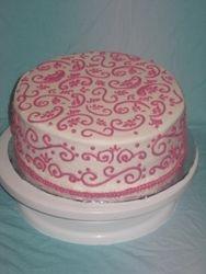 Pink Scrolls Cake