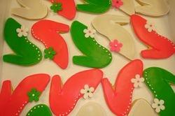 flower shoe cookies $3.75 each