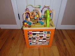 B toys Zany Zoo Wooden Bead Maze Activity Cube - $35