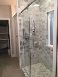 Basement remodel with tile shower