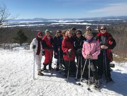 Snowshoeing at the Castle in the Clouds