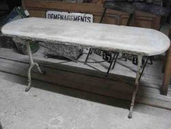 #13/302 Large Bistro Table with Stone Top SOLD