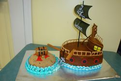 15 servings pirate ship $150 island $10