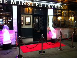 VIP Entrance at pub opening night
