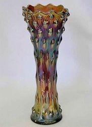 """Hobnail Swirl 10 1/2""""vase, amethyst"""