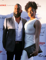 Krish Sidhu and Demetria McKinney attend Design Care