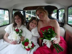 Bridesmaid and flower girls