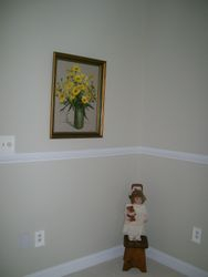 FRAMED ARTWORK, COLLECTOR DOLL