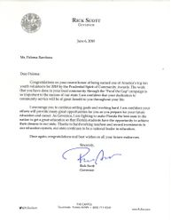 Letter from Governor Rick Scott