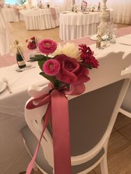 Bride and Groom chairs for Head table.