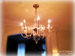 hallway chandelier installation
