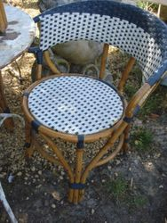 #15/236 Set of 4 Wicker Bistro Chair SOLD
