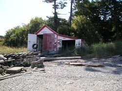 Discovery Island lighthouse's boathouse.