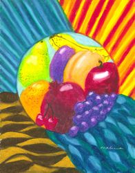 Nourished By The Elements Mandala, Oil Pastel, 11x14, Original Sold