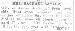 Saylor, Rachel 1908