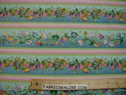 Fairy Tales Ladybugs & Floral Stripe - 77 (COTTON)