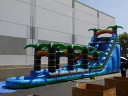 22ft Tropical Blue Crush Waterslide with Slip and slide