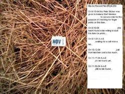 Plate Sticker Evidence-Log Sheet