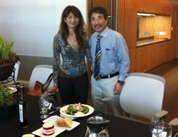 Sho's parents, Kazue and Yuji, at the luncheon