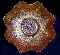"""Cherry Chain 10""""ruffled bowl, marigold"""