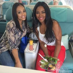 Demetria McKinney and Kenya Moore All Aboard: Cast Trip - Real Housewives Of Atlanta