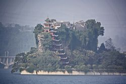 Shibaozhai Pagoda on Yangtzee River