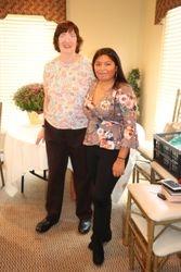 Linda Kalata and GCI attendee Catelina Garcia