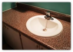 New sink and countertop installation