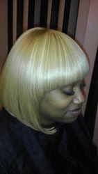 Custom made wig, bob cut with straight bangs