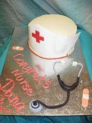 Nurse's Cap Graduation Cake