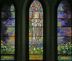 Tiiffany, Angel and Landscapes, St Johns Church, Franklin, PA