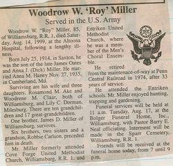 Miller, Woodrow W. 1999