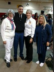 JoAnn Zembiec, Col. Steve Garcia, Pat Merville, Gloria