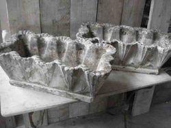 #13/292 Pair of Concrete Planters  SOLD