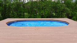Above Ground Pool Install Composite Decking 4