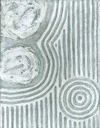 Raked Sand Whirlpool, Acrylic, 11x14, Original Available
